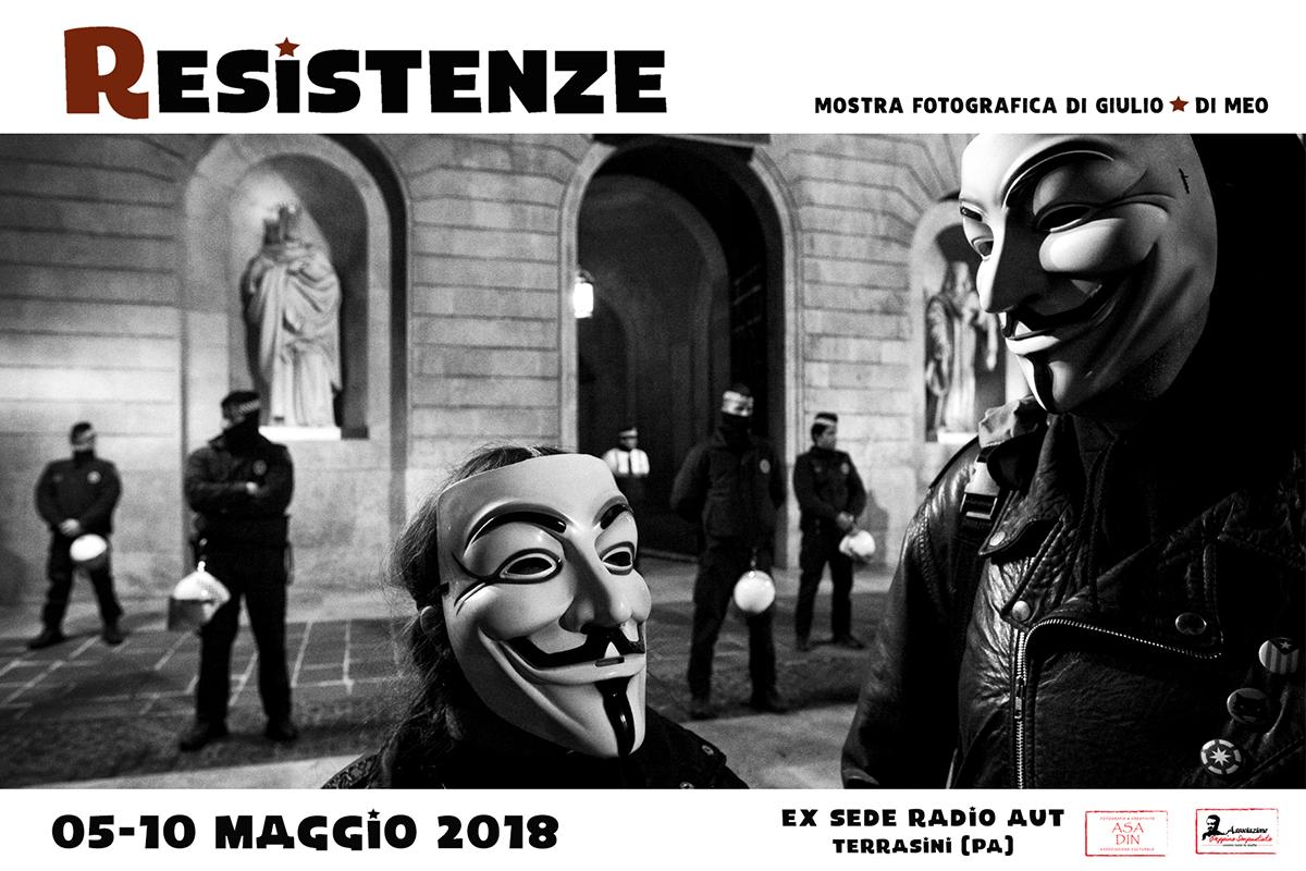 Mostra Resistenze di Giulio Di Meo a Terrasini (Pa)