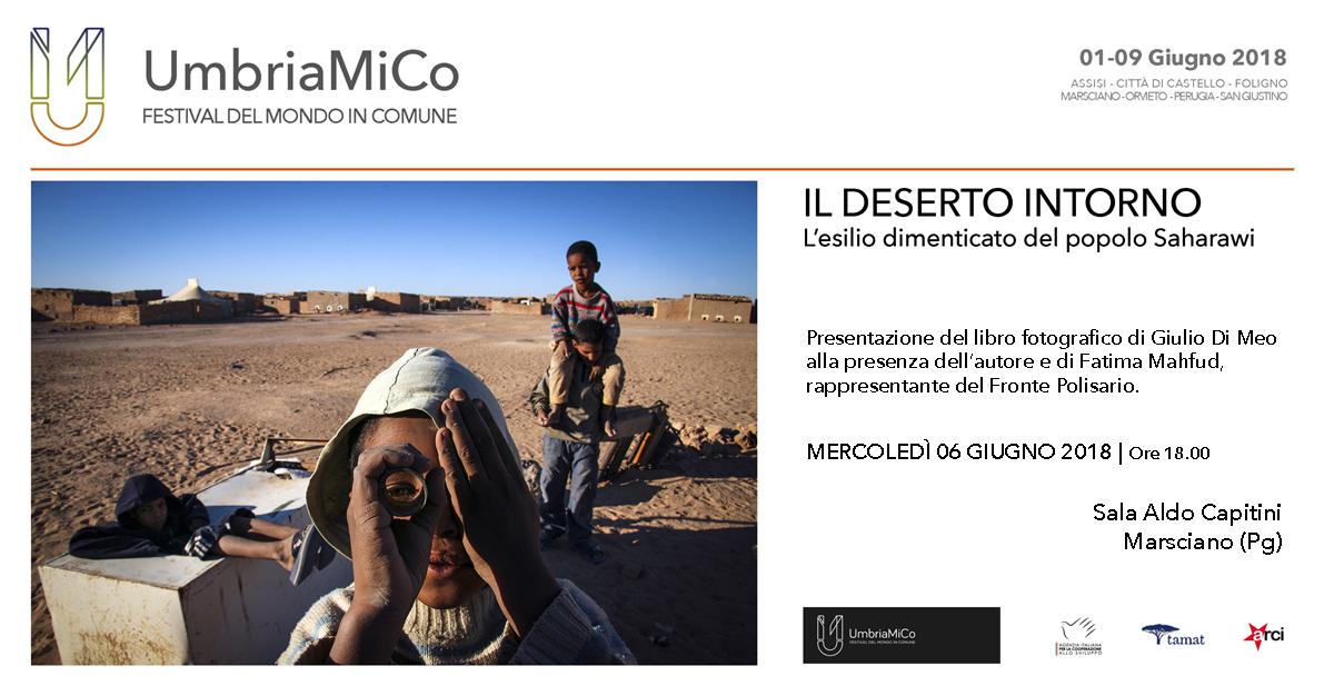 Presentazione del libro: IL DESERTO INTORNO di Giulio Di Meo - Marsciano (Pg)